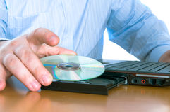 Disk drive of a computer Stock Photos