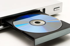 Disk drive in DVD player Stock Photography