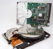 Disk Drive With Electronic Reflection Stock Photography