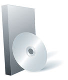 Disk DVD and box. Royalty Free Stock Photo