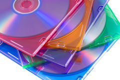 Disk, DVD boxes isolated Royalty Free Stock Images