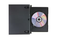 Disk and DVD boxes on white Royalty Free Stock Photos