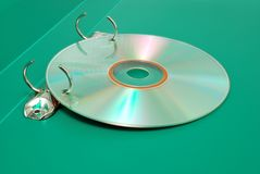 Disk DVD in  a folder  for documents Royalty Free Stock Image