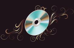Disk DVD with ornament Stock Photography