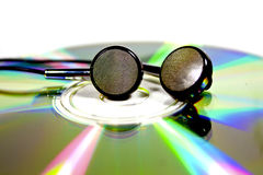 Disk and earphones Royalty Free Stock Image