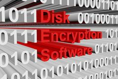 Disk encryption software Stock Images