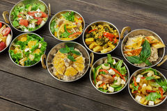 Disk för indisk kokkonst för strikt vegetarian och för vegetarian varm kryddig Royaltyfri Bild