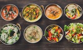 Disk för indisk kokkonst för strikt vegetarian och för vegetarian varm kryddig Royaltyfri Foto