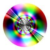 Disk - fractal. Fantastic disk (fractal) similarity of CD, DVD - isolated Royalty Free Stock Image