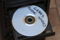 Disk with games, music and movies Royalty Free Stock Photo