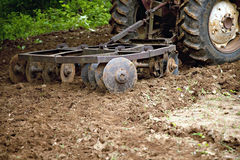 Disk Harrow in garden Royalty Free Stock Photography