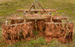 Disk harrows with soil Stock Image