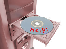 Disk Help in tray Royalty Free Stock Photos
