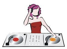 Disk jockey Stock Photo