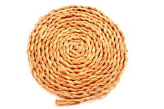 Disk knotted rope Stock Photography