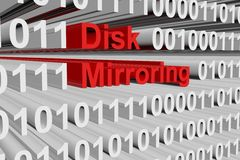 Disk mirroring Royalty Free Stock Image