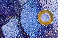 Disk- och vattendroppar royaltyfri foto