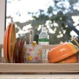 disk på fönsterbrädan Fotografering för Bildbyråer