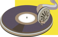 Disk on phonograph Royalty Free Stock Photography