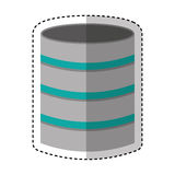 Disk server isolated icon Stock Photography