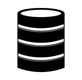 Disk server isolated icon Royalty Free Stock Images