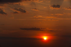 Disk of the sun, sunset Royalty Free Stock Image