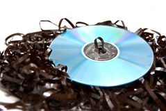 Disk and tape Stock Image