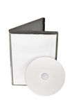 Disk and white DVD box Stock Images