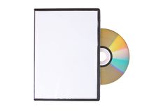 Disk in white DVD box Stock Image