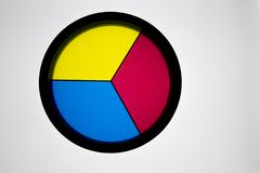 Free Disk With 3 Primary Colors, &x28;yellow, Blue And Red&x29; On A White Ba Royalty Free Stock Photos - 122584798