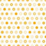 Disk yellow star  seamless pattern. Stock Photo