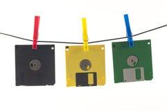 disketta färgade disks Arkivfoto