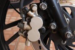 Diskettbroms av motorcykeln Fotografering för Bildbyråer
