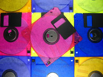 Diskette background Stock Photo