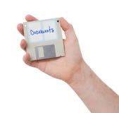 Diskette, Datenspeicherungsunterstützung Lizenzfreie Stockfotos