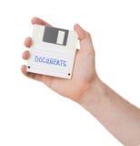 Diskette, de steun van de gegevensopslag Stock Foto's