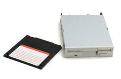 Diskette en aandrijving Stock Foto's