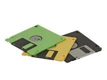 Diskette. Geïsoleerd. Stock Foto's