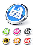 Diskette icon royalty free illustration
