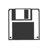 Diskette icon. Gadget and technology design. Vector graphic Stock Photo