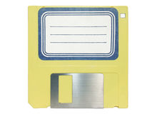 Diskette with label Royalty Free Stock Photography