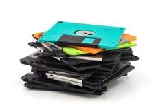 Diskette lokalisiert auf weißem Hintergrund Stockbilder