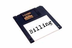 Diskette met etiket Stock Foto's