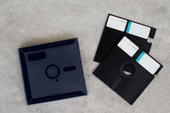 Diskette mit Kastenscheibe Stockbilder
