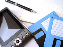 Diskette, Notebook And Pc Royalty Free Stock Image