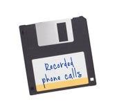 Diskette - Tachnology van het verleden, op wit wordt geïsoleerd dat Stock Foto