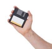 Diskette - Tachnology van het verleden, op wit wordt geïsoleerd dat royalty-vrije stock fotografie