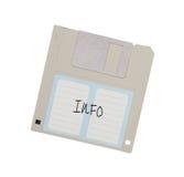Diskette - Tachnology von der Vergangenheit, lokalisiert auf Weiß Lizenzfreies Stockfoto
