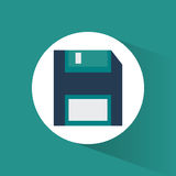 Diskette technology and data design. Diskette icon. Technology media data and information theme. Colorful design. Vector illustration royalty free illustration