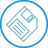 Diskette-Vektor-Linie Ikone Vektor Abbildung